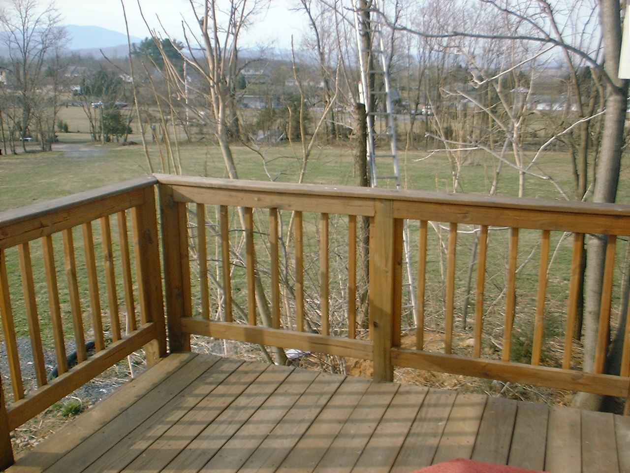 Deck overlooking Blue Ridge - Skyline Drive