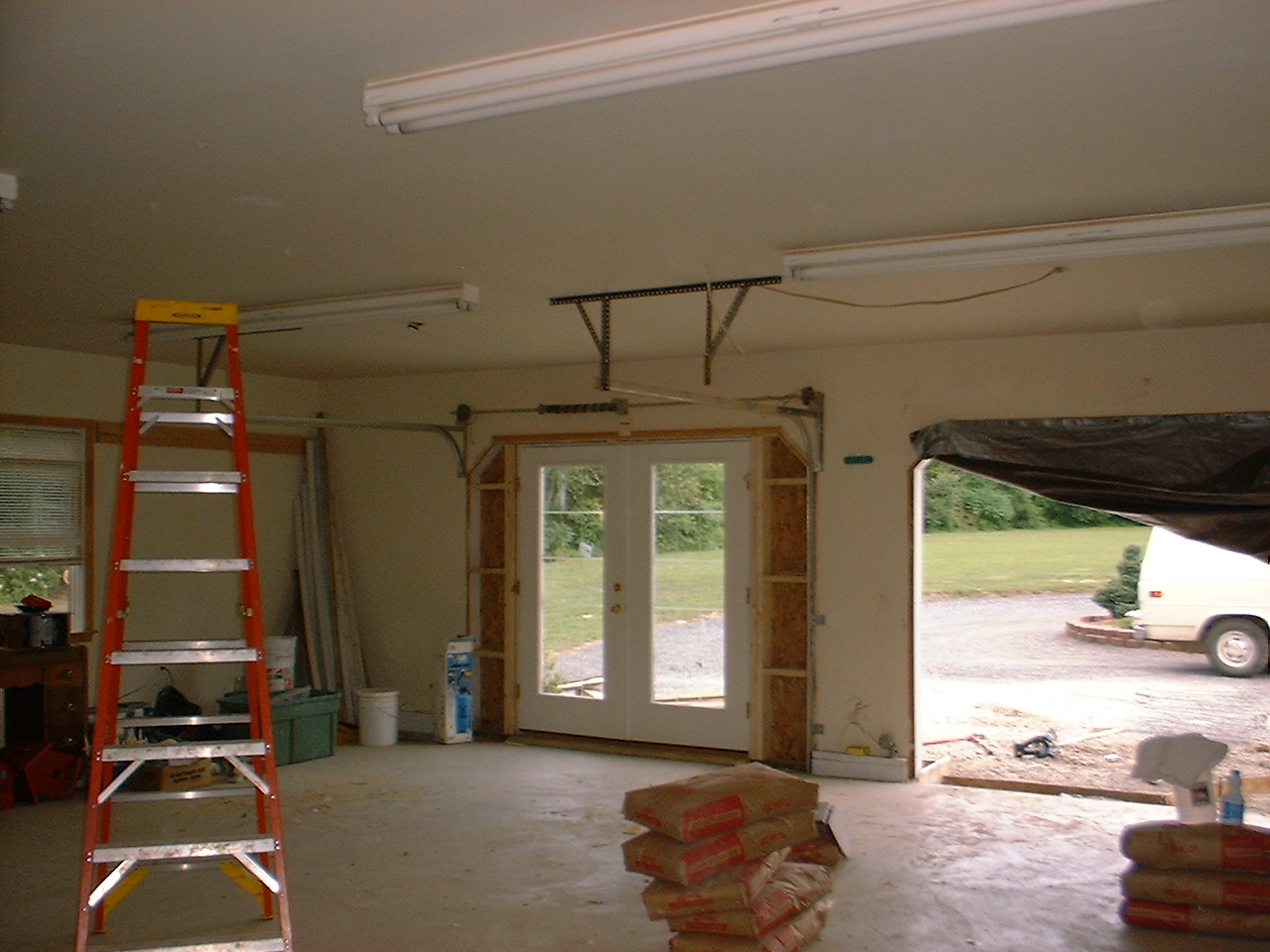inside garage to meeting room conversion